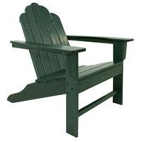 POLYWOOD ECA15GR Green Long Island Adirondack Chair