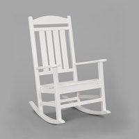 POLYWOOD R100WH White Presidential Rocking Chair
