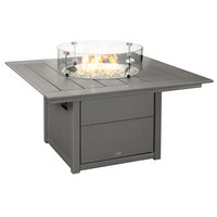 POLYWOOD CTF42SGY Slate Grey 42 inch Square Fire Pit Table