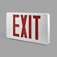 Lavex Industrial Ultra Thin Double Face White Exit Sign with Red Lettering - AC Only