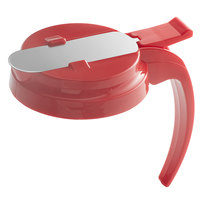 Vollrath 4748T-02 Dripcut® Red Plastic Top for 48 and 64 oz. Syrup Servers
