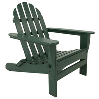 POLYWOOD AD5030GR Green Classic Folding Adirondack Chair