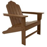 POLYWOOD ECA15TE Teak Long Island Adirondack Chair