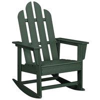 POLYWOOD ECR16GR Green Long Island Rocking Chair