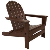 POLYWOOD AD7030MA Mahogany Classic Oversized Curveback Adirondack Folding Chair