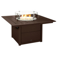 POLYWOOD CTF42SMA Mahogany 42 inch Square Fire Pit Table