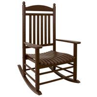 POLYWOOD J147MA Mahogany Jefferson Rocking Chair