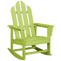 POLYWOOD ECR16LI Lime Long Island Rocking Chair