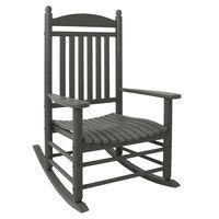 POLYWOOD J147GY Slate Grey Jefferson Rocking Chair