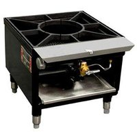 Town SR-18-SS Liquid Propane Stock Pot Range with Front Manifold