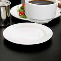 Arcoroc R0833 Candour 6 1/2 inch White Porcelain Saucer by Arc Cardinal - 24/Case