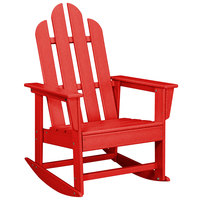 POLYWOOD ECR16SR Sunset Red Long Island Rocking Chair