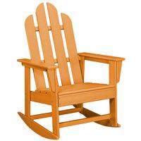 POLYWOOD ECR16TA Tangerine Long Island Rocking Chair