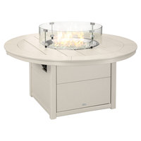 POLYWOOD CTF48RSA Sand 48 inch Round Fire Pit Table
