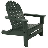 POLYWOOD AD7030GR Green Classic Oversized Curveback Adirondack Folding Chair