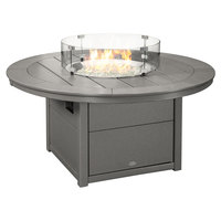 POLYWOOD CTF48RGY Slate Grey 48 inch Round Fire Pit Table