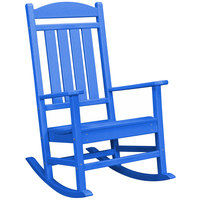 POLYWOOD R100PB Pacific Blue Presidential Rocking Chair