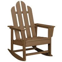 POLYWOOD ECR16TE Teak Long Island Rocking Chair