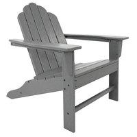 POLYWOOD ECA15GY Slate Grey Long Island Adirondack Chair