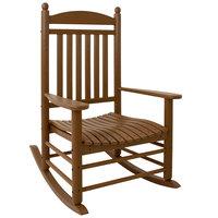 POLYWOOD J147TE Teak Jefferson Rocking Chair