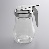 Vollrath 1206 Dripcut® 7 oz. Clear Polycarbonate Teardrop Syrup Server with Chrome Top