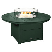 POLYWOOD CTF48RGR Green 48 inch Round Fire Pit Table