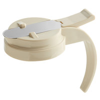 Vollrath 606T-18 Dripcut® Almond Plastic Top for 6, 7, and 10 oz. Syrup Servers