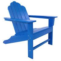 POLYWOOD ECA15PB Pacific Blue Long Island Adirondack Chair