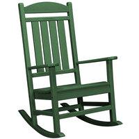 POLYWOOD R100GR Green Presidential Rocking Chair