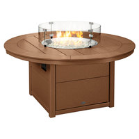 POLYWOOD CTF48RTE Teak 48 inch Round Fire Pit Table