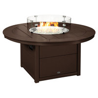 POLYWOOD CTF48RMA Mahogany 48 inch Round Fire Pit Table