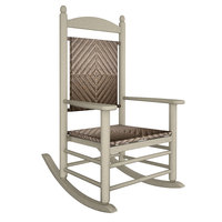 POLYWOOD K147FSACA Cahaba Jefferson Woven Rocking Chair with Sand Frame
