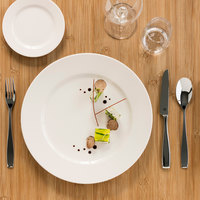 RAK Porcelain BAFP24 Banquet 9 7/16 inch Ivory Porcelain Flat Plate - 12/Case