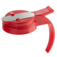 Vollrath 606T-02 Dripcut® Red Plastic Top for 6, 7, and 10 oz. Syrup Servers