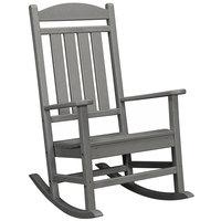 POLYWOOD R100GY Slate Grey Presidential Rocking Chair