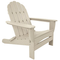 POLYWOOD AD7030SA Sand Classic Oversized Curveback Adirondack Folding Chair