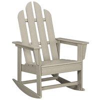 POLYWOOD ECR16SA Sand Long Island Rocking Chair