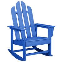 POLYWOOD ECR16PB Pacific Blue Long Island Rocking Chair