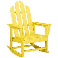 POLYWOOD ECR16LE Lemon Long Island Rocking Chair