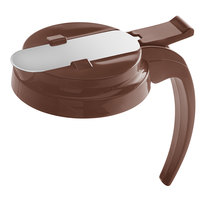 Vollrath 4748T-01 Dripcut® Brown Plastic Top for 48 and 64 oz. Syrup Servers