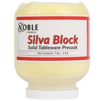 7 lb. Noble Chemical Silva Block Solid Tableware Presoak - Ecolab&#174&#x3b; 12922 Alternative - 2/Case