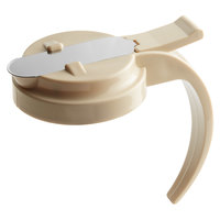 Vollrath 614T-18 Dripcut® Almond Plastic Top for 14 and 16 oz. Syrup Servers