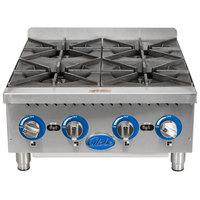 Globe GHP24G 24 inch Countertop Gas Hot Plate - 88,000 BTU