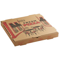 Choice 18 inch x 18 inch x 2 inch Kraft Corrugated Pizza Box   - 50/Case