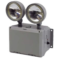 Lavex Industrial Wet Location Remote Capable Dual Head Emergency Light with Battery Backup