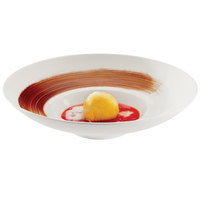 RAK Porcelain FDGD26 Fine Dine 10 1/4 inch Ivory Porcelain Gourmet Deep Plate - 6/Case