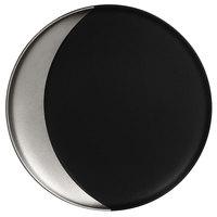 RAK Porcelain MFMODP24SB Metal Fusion 9 1/2 inch Silver / Black Porcelain Deep Plate - 12/Case