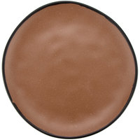 GET CS-100-TP Pottery Market 10 1/2 inch Matte Speckled Brown Melamine Coupe Dinner Plate - 12/Pack