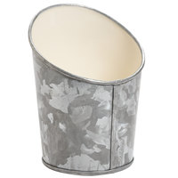 GET GC-55-GG/IV 5 inch Round Galvanized French Fry Cup with Angled Top