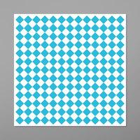 GET P-BLC-1212-W 12 inch x 12 inch Blue Check Deli Sandwich Wrap Paper - 1000/Case